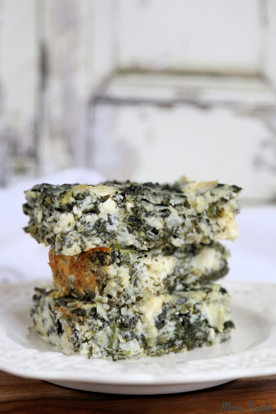 12. Low-Carb Spanakopita Cottage Cheese and Egg Casserole