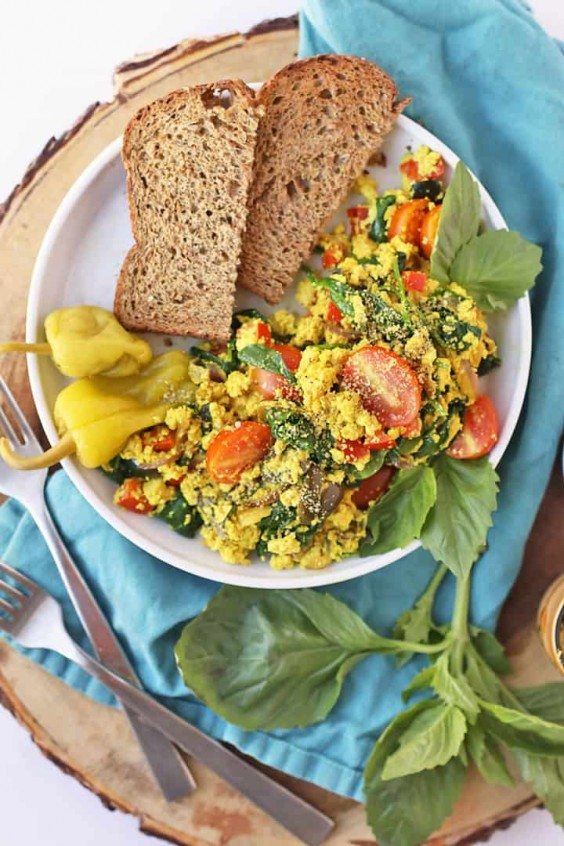 Greek Tofu Scramble Recipe