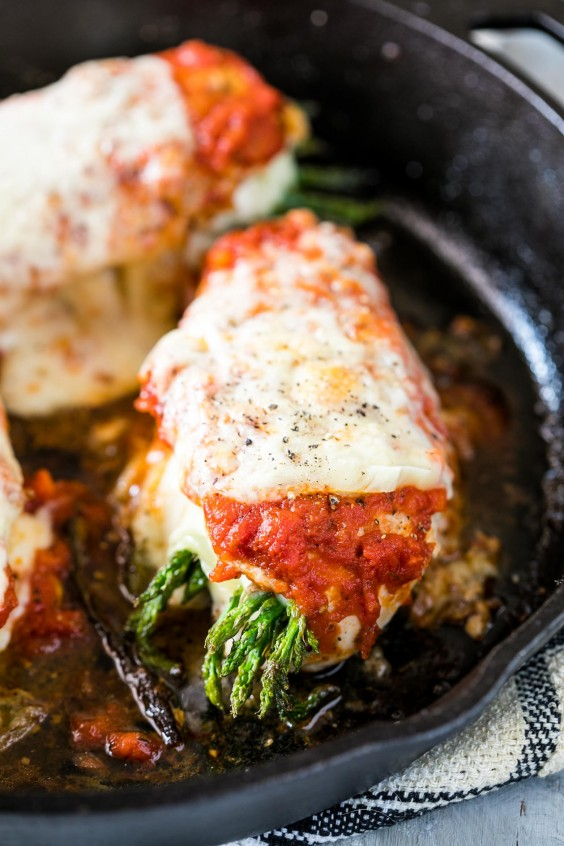 5. Asparagus Stuffed Chicken Parmesan
