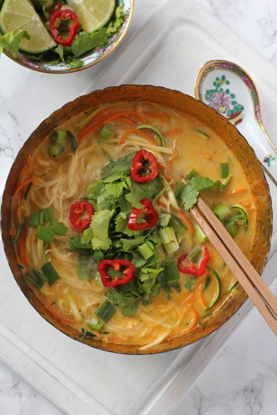 14. 10-Minute Vegetable Laksa