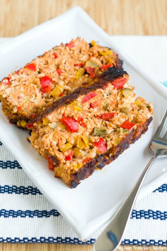 11. Balsamic Glazed Summer Vegetable Meatloaf