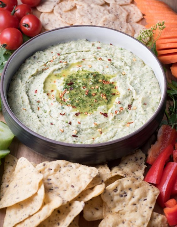 5. Chimichurri White Bean Dip