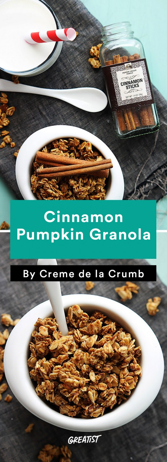 Fall Food Trends: Cinnamon Pumpkin Granola
