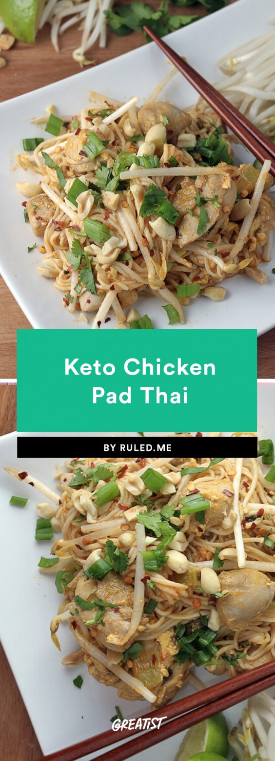 Keto Chicken Pad Thai