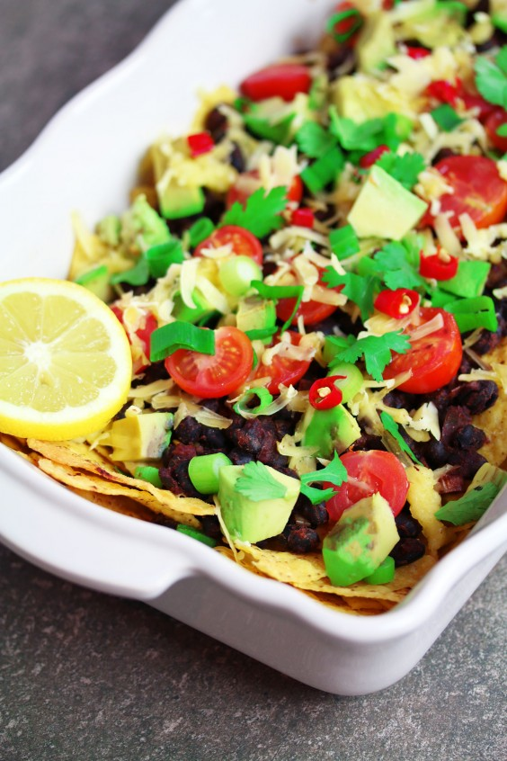 5. Vegan Spicy Black Bean Nachos