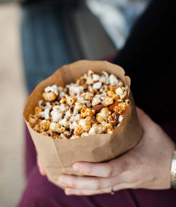 5. Honey Almond Popcorn