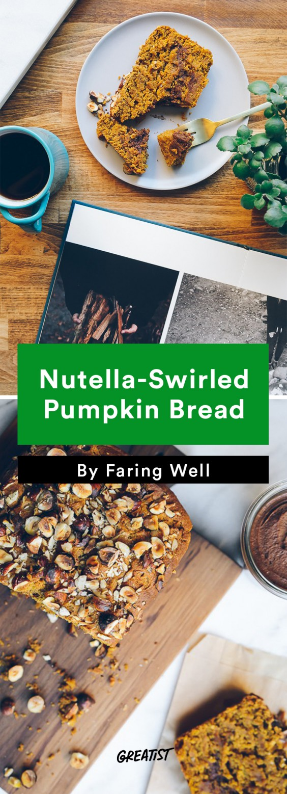 faring well: Nutella-Swirled Pumpkin Bread