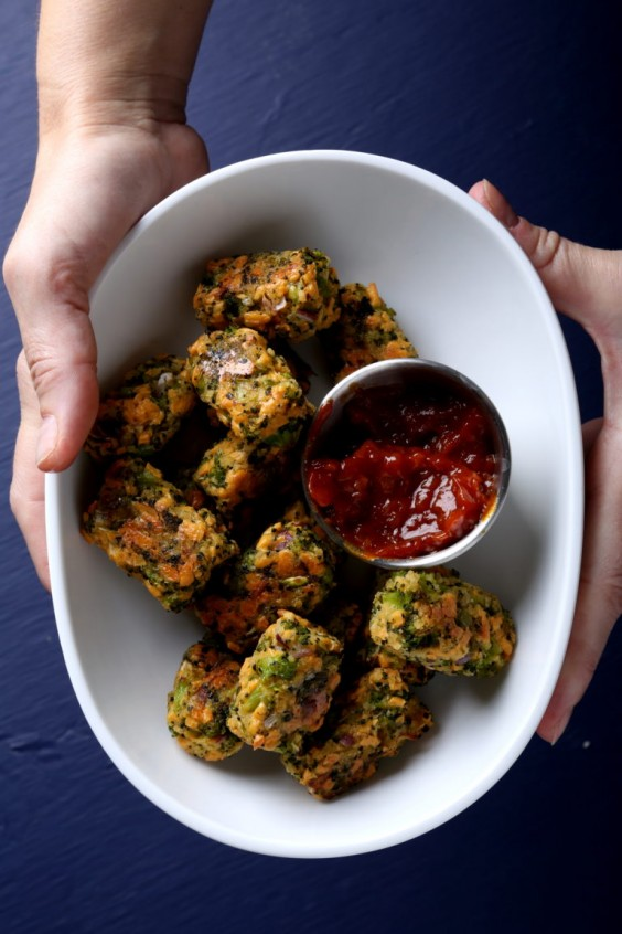 11. Broccoli Tots and Quick Curry Ketchup