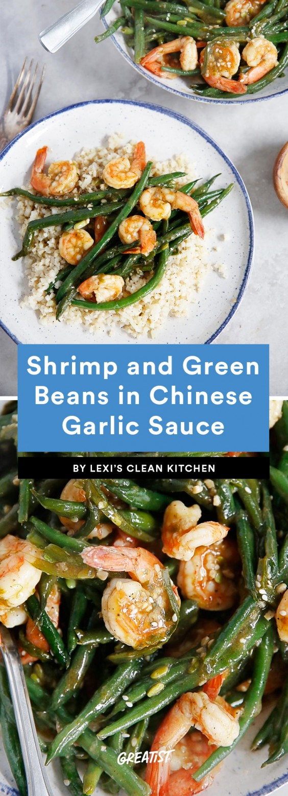 1. Shrimp and Green Beans in Chinese Garlic Sauce