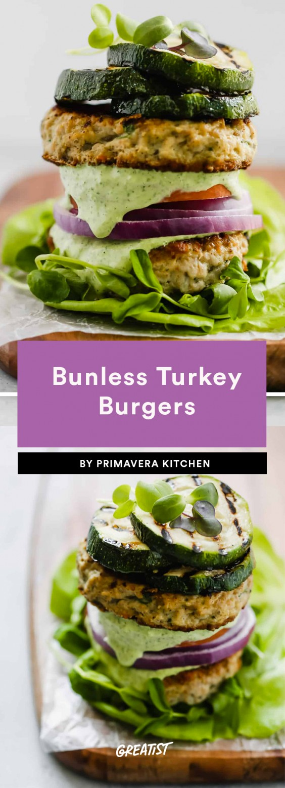 2. Bunless Turkey Burgers