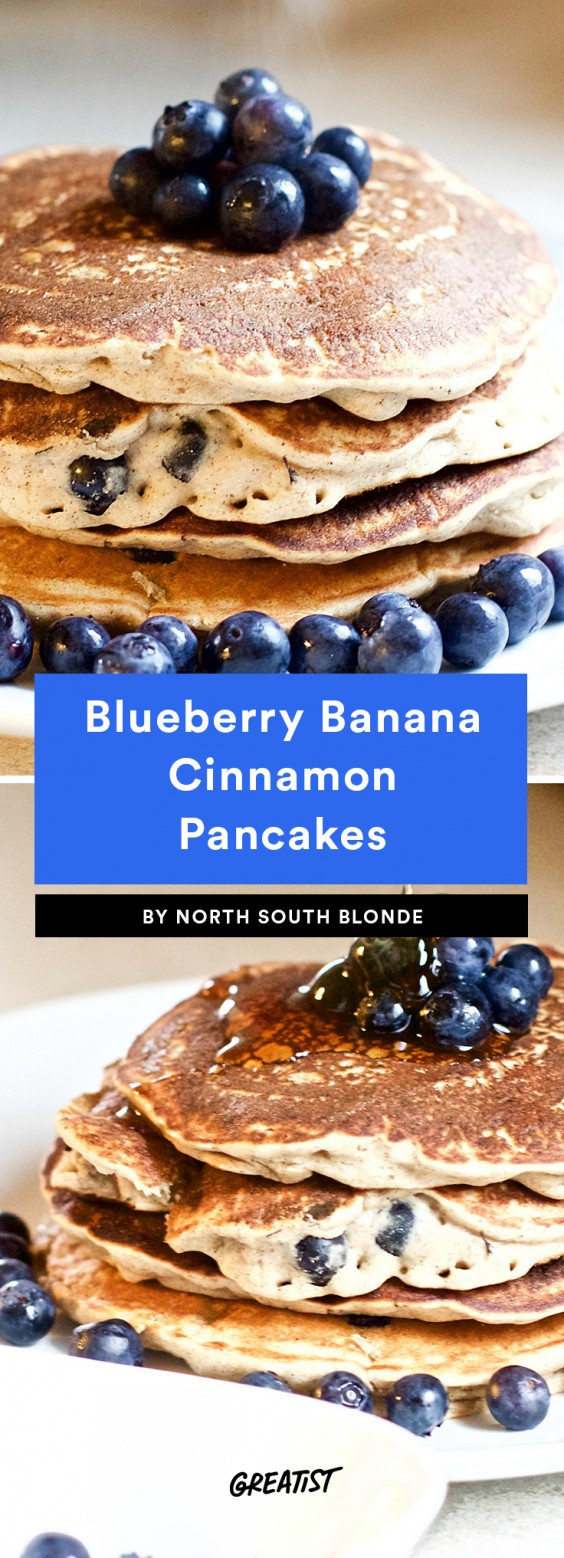 Blueberry Banana Cinnamon Pancakes