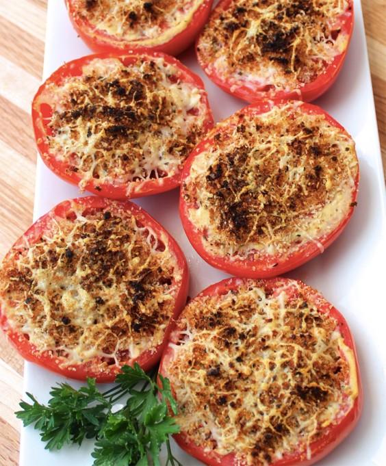2. Broiled Parmesan Tomatoes