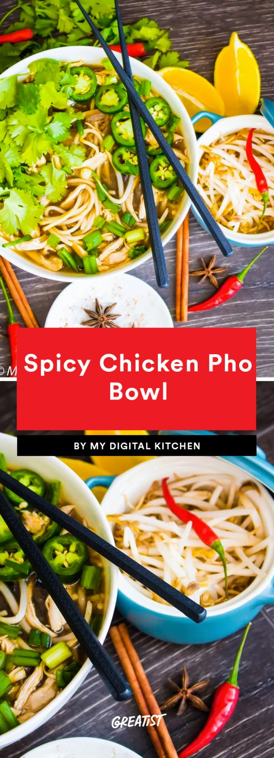 1. Spicy Chicken Pho Bowl