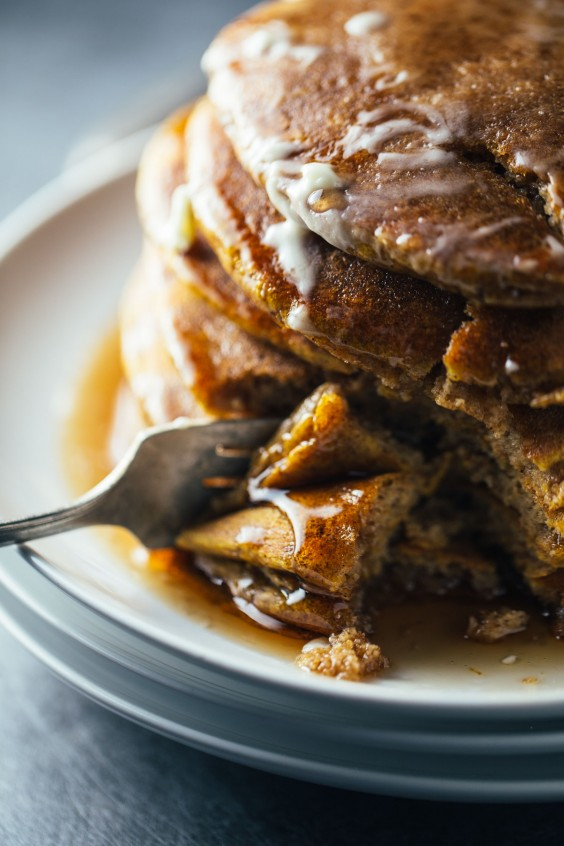1. Simple Cinnamon Pumpkin Pancakes