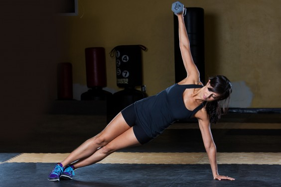 Side Plank with Lateral Raise