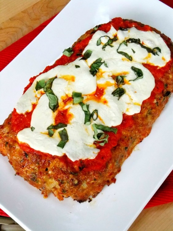 10. Chicken Parmesan Meatloaf