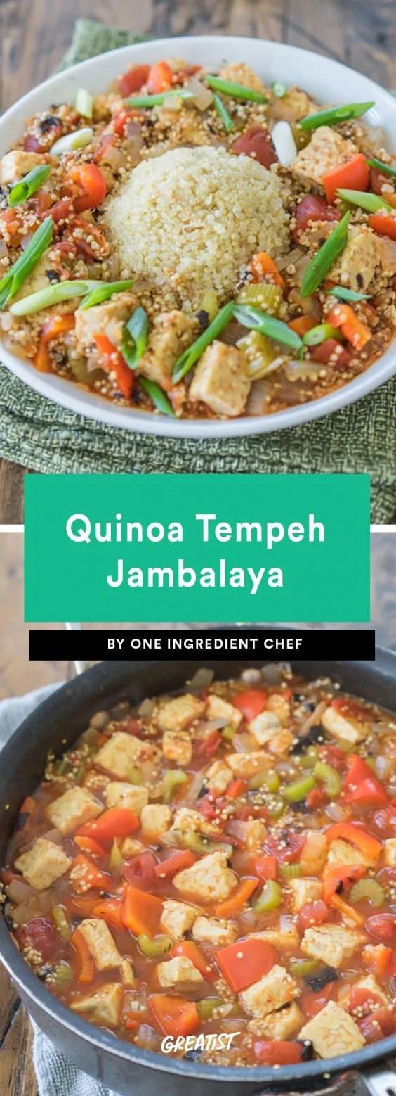Quinoa Tempeh Jambalaya Recipe