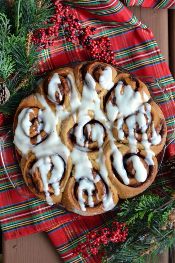 8. The Fluffiest Vegan Gingerbread Cinnamon Buns