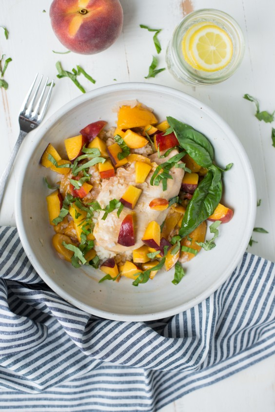 2. Instant Pot Peach Chicken and Basil