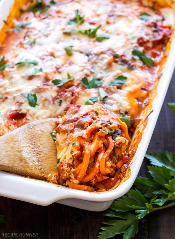 1. Sweet Potato Pasta Bake