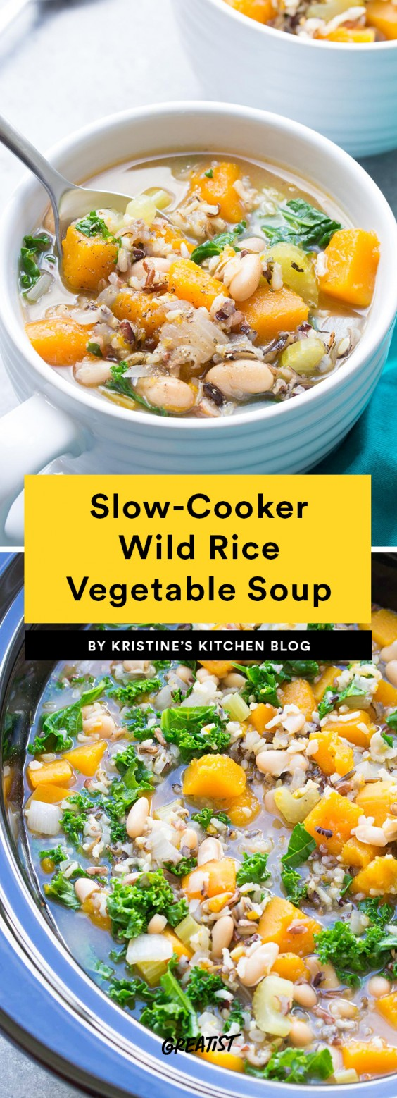 Slow-Cooker Wild Rice Vegetable Soup