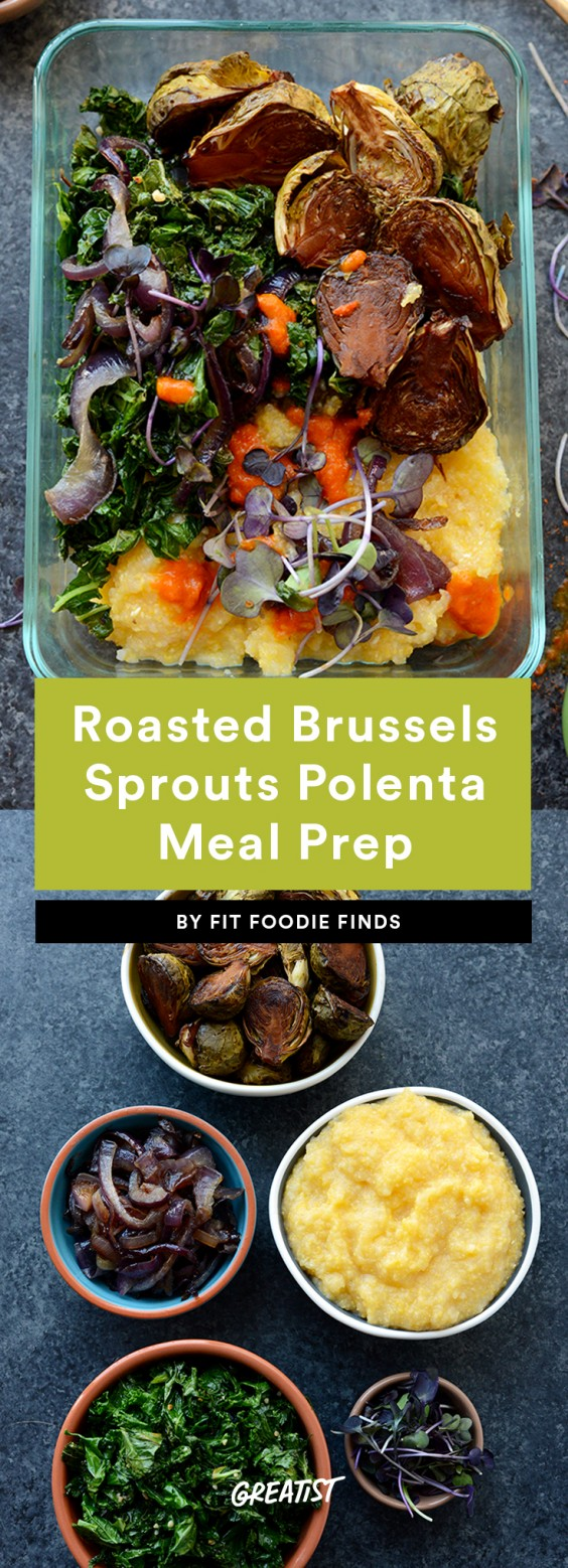 Roasted Brussels Sprouts Polenta Recipe