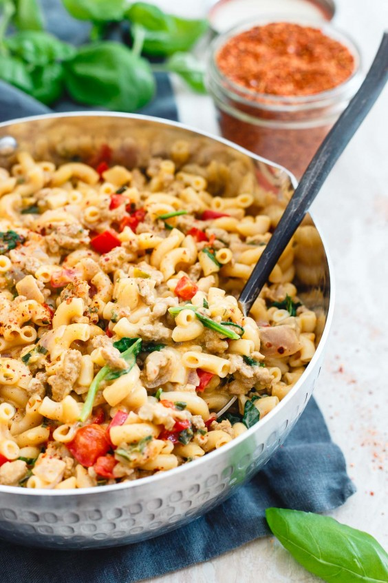 4. Turkey Skillet Mac and Cheese