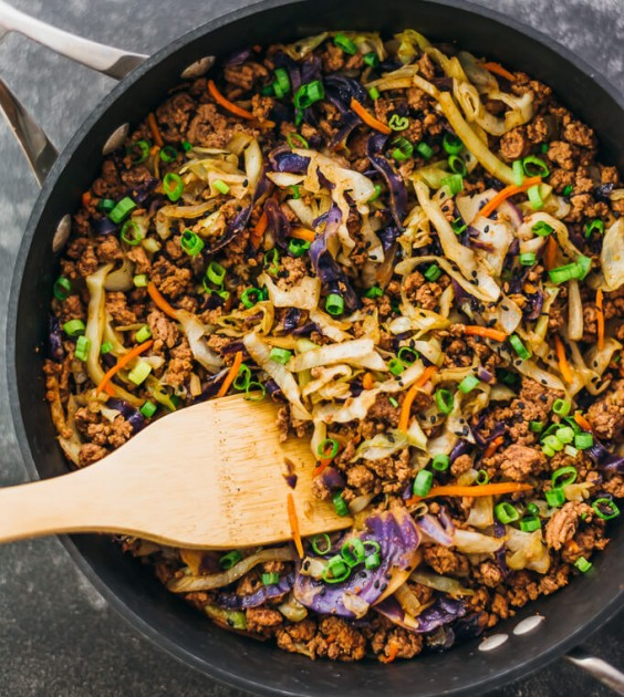 10. Ground Beef and Cabbage Stir-Fry