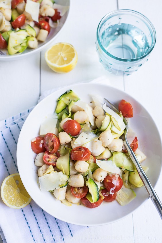 12. Warm Bay Scallop Salad With Zucchini and Asparagus