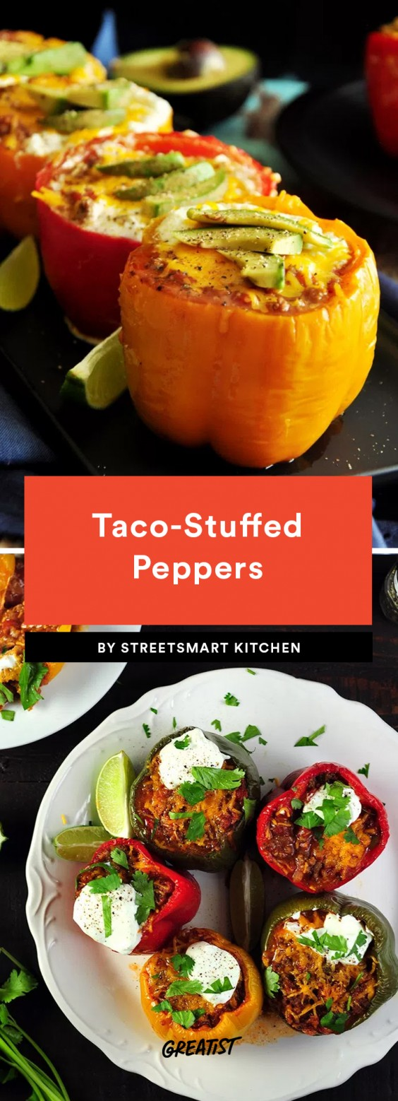 Taco-Stuffed Peppers