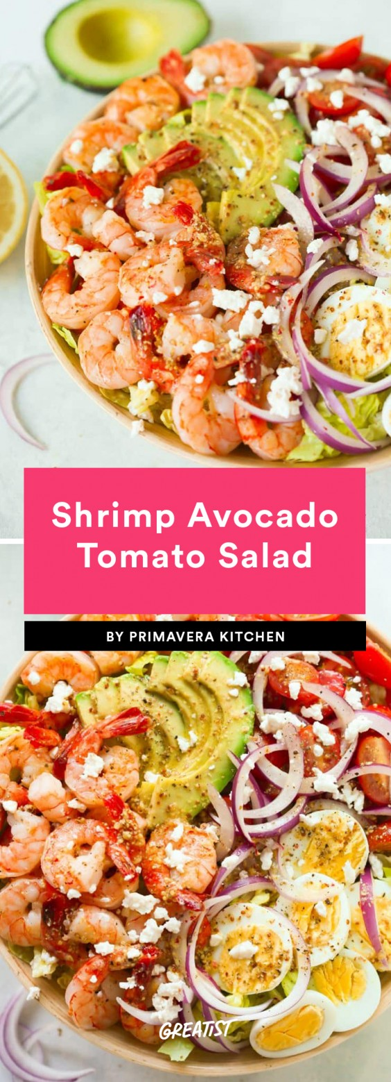 2. Shrimp Avocado Tomato Salad