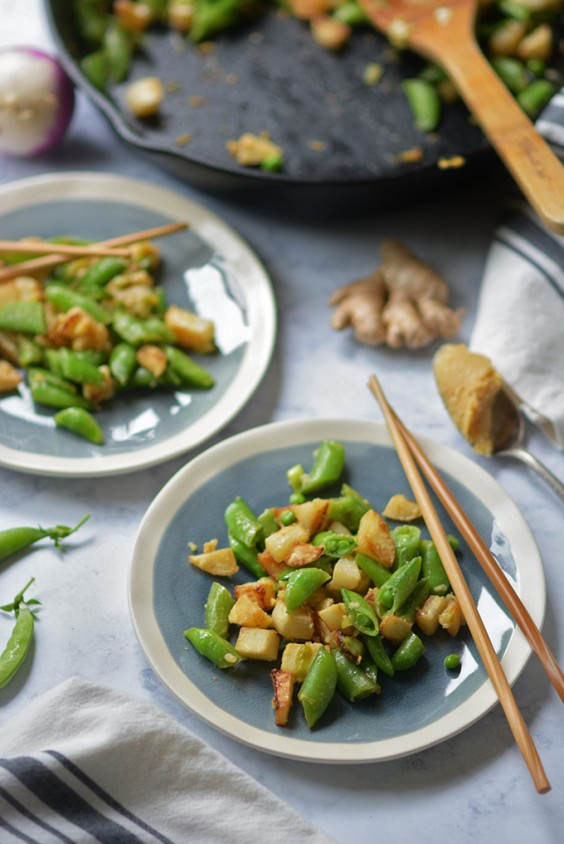 18. Ginger Miso Turnips and Sugar Snap Peas