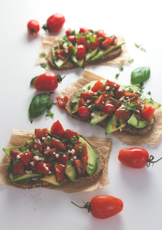 11. Avocado Tomato Bruschetta