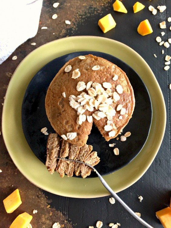 5. Butternut Squash Maple Oat Pancakes