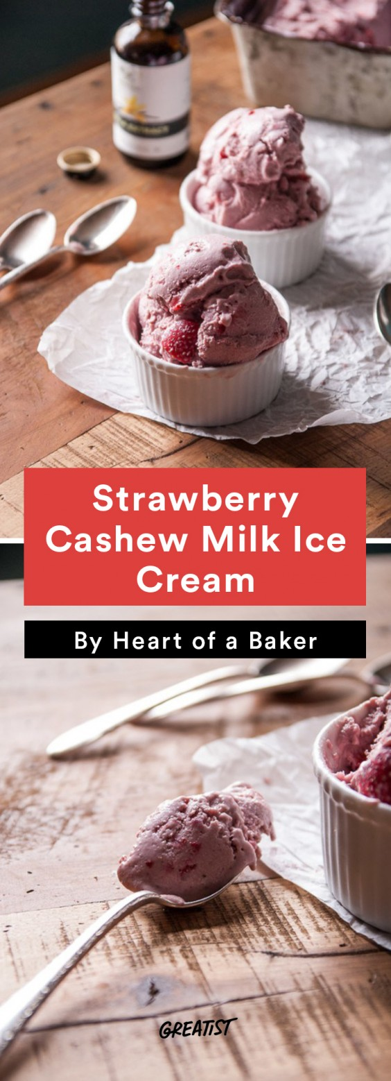 Cashew Milk roundup: Strawberry Cashew Milk Ice Cream