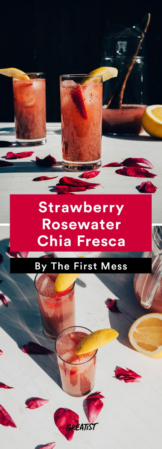 First Mess roundup: Strawberry Rosewater Chia Fresca