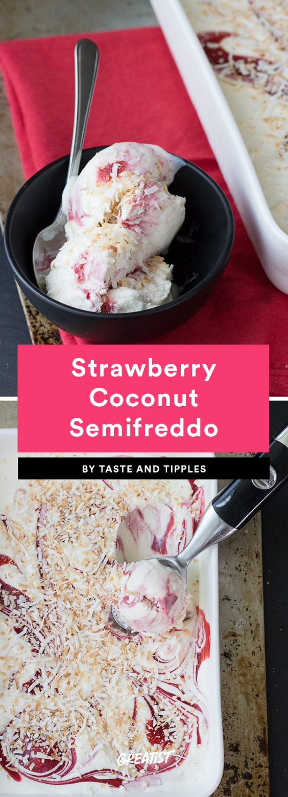 2. Strawberry Coconut Semifreddo