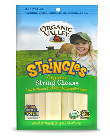 2. Organic Valley Stringles String Cheese