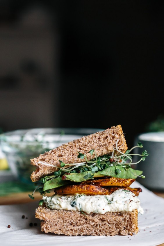 Veggie sandwich: Golden Beet