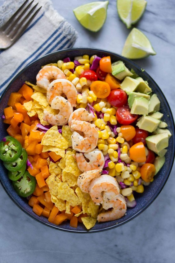 7. Honey-Lime Shrimp and Avocado Salad