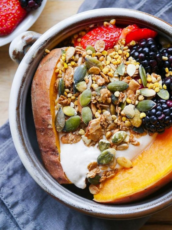 4. Sweet Potato Breakfast Bowl With Berries