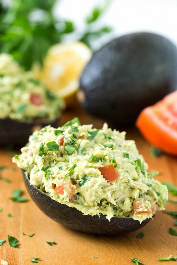 11. Paleo Tuna Avocado Boats