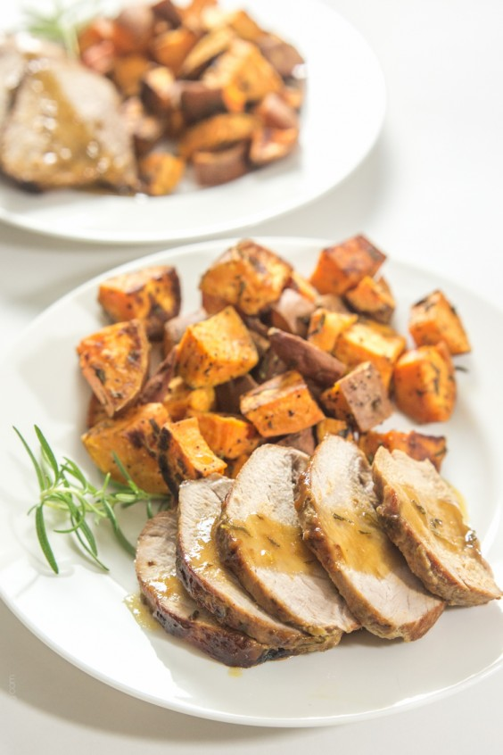 8. Rosemary Honey Mustard Pork Tenderloin