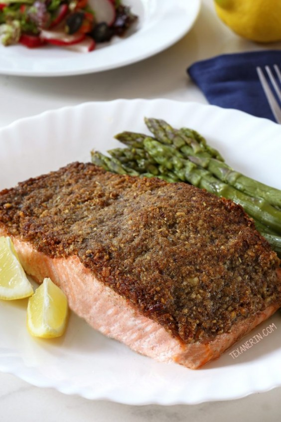 7. Easy Paleo Pecan-Crusted Salmon