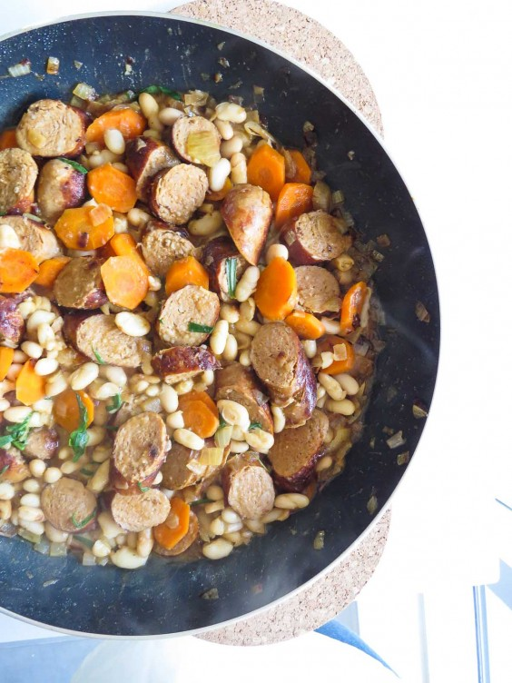 5. Sausage and Cannellini Beans in White Wine