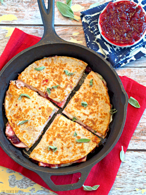 9. Thanksgiving Leftover Quesadillas