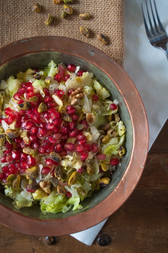 7. Moroccan Spiced Pomegranate Salad With Creamy Tahini Dressing