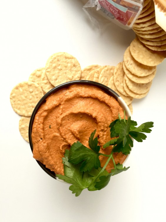 4. Roasted Red Pepper and Walnut Dip