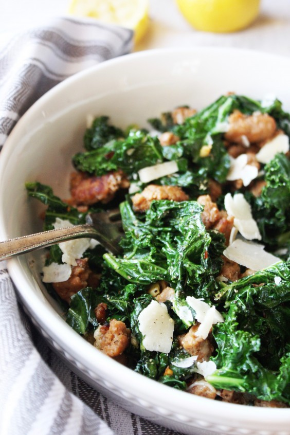 5. Kale and Turkey Sausage Saute With Parmesan
