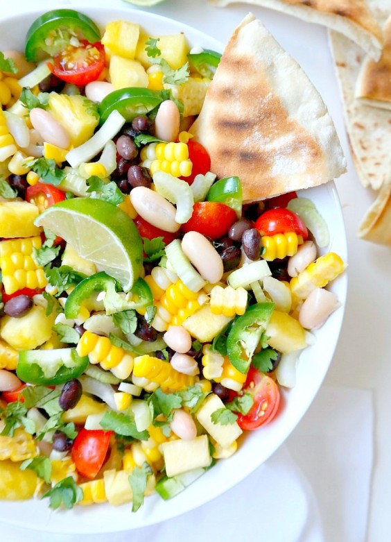 7. Summer Corn, Pineapple, and Black Bean Salsa